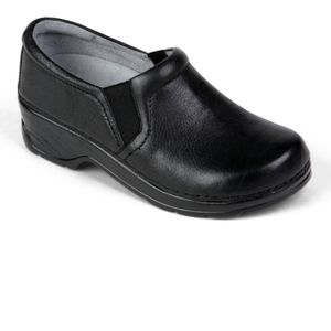 Klogs Nashua Black Slip On Support Clogs leather